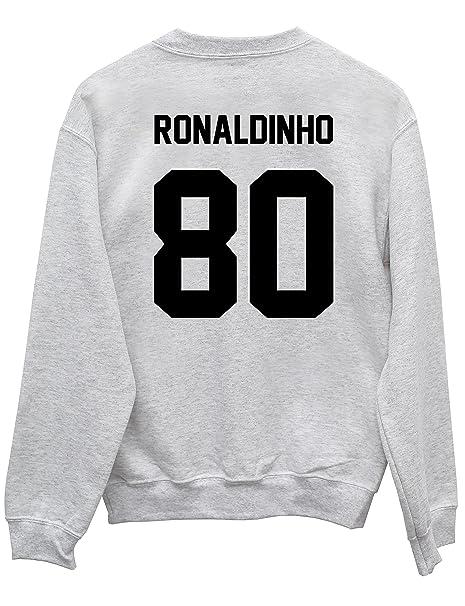 HippoWarehouse Ronaldinho 80 (Impreso en la Espalda) Jersey Sudadera suéter Derportiva Unisex: Amazon.es: Ropa y accesorios
