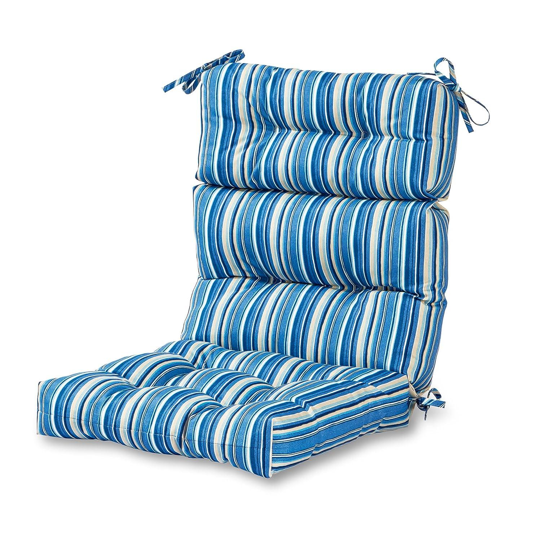 Greendale Home Fashions Outdoor High Back Chair Cushion, Sapphire