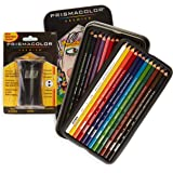 Prismacolor Premier Colored Pencils, Soft Core, 24 Pack (3597T) with Premier Pencil Sharpener (1786520)