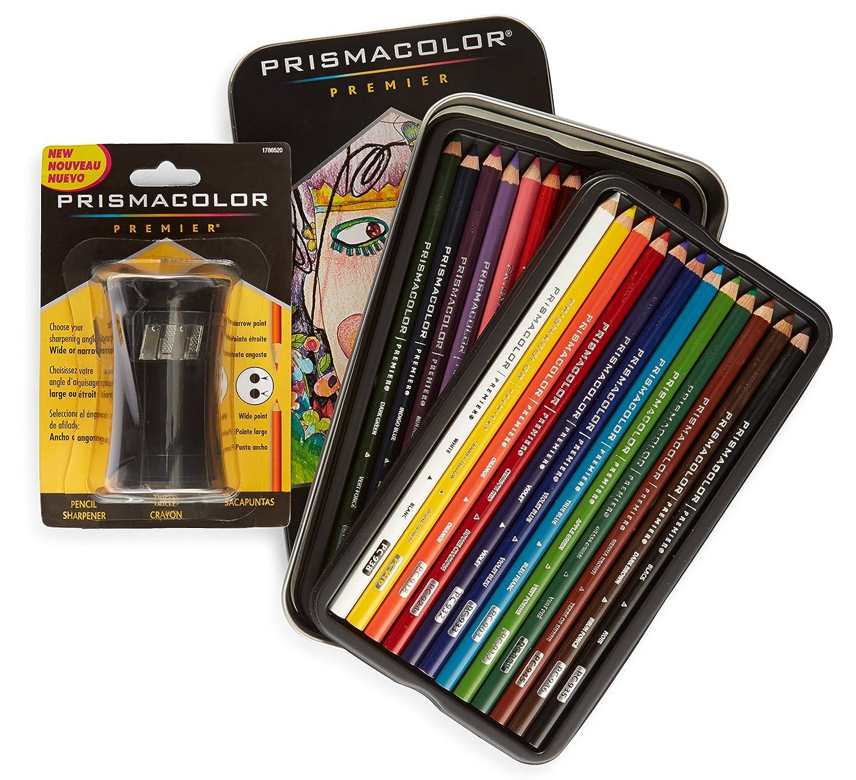 24 lápices de colores y sacapuntas, Prismacolor (xmp)
