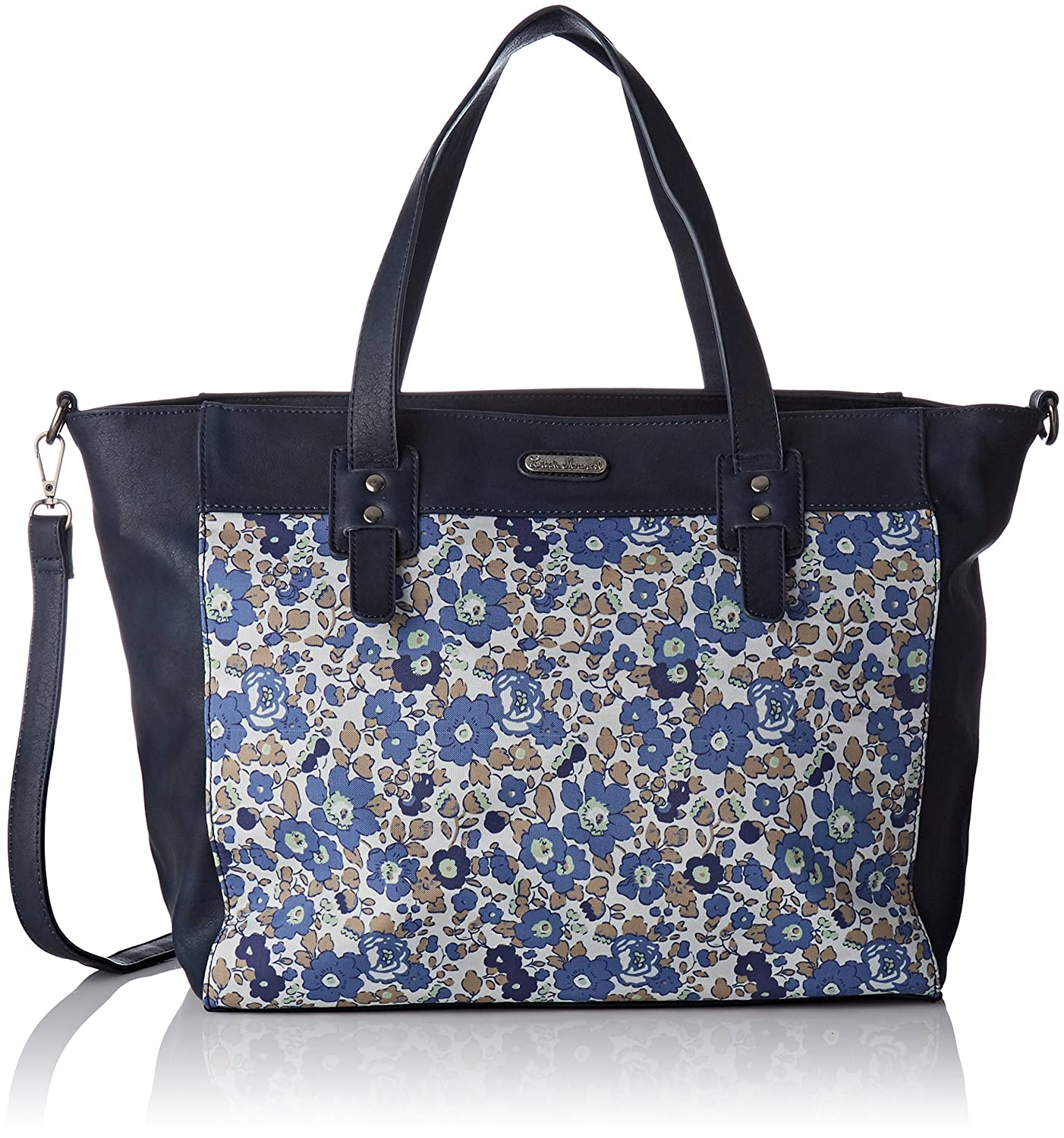 Little Marcel femme Qu12-lm-flower Cabas Bleu (Flower)