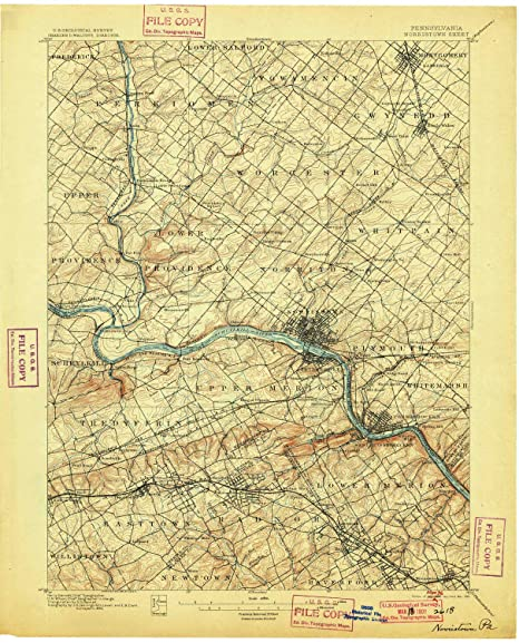 Amazon Com Yellowmaps Norristown Pa Topo Map 1 62500 Scale 15 X