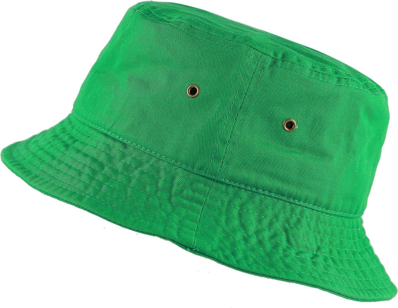 The Hat Depot 300N Unisex 100/% Cotton Packable Summer Travel Bucket Beach Sun Hat