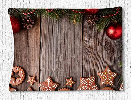 celycasy wall tapestry hanging set christmas decorationsdelicious homemade cookies dried fruits and christmas