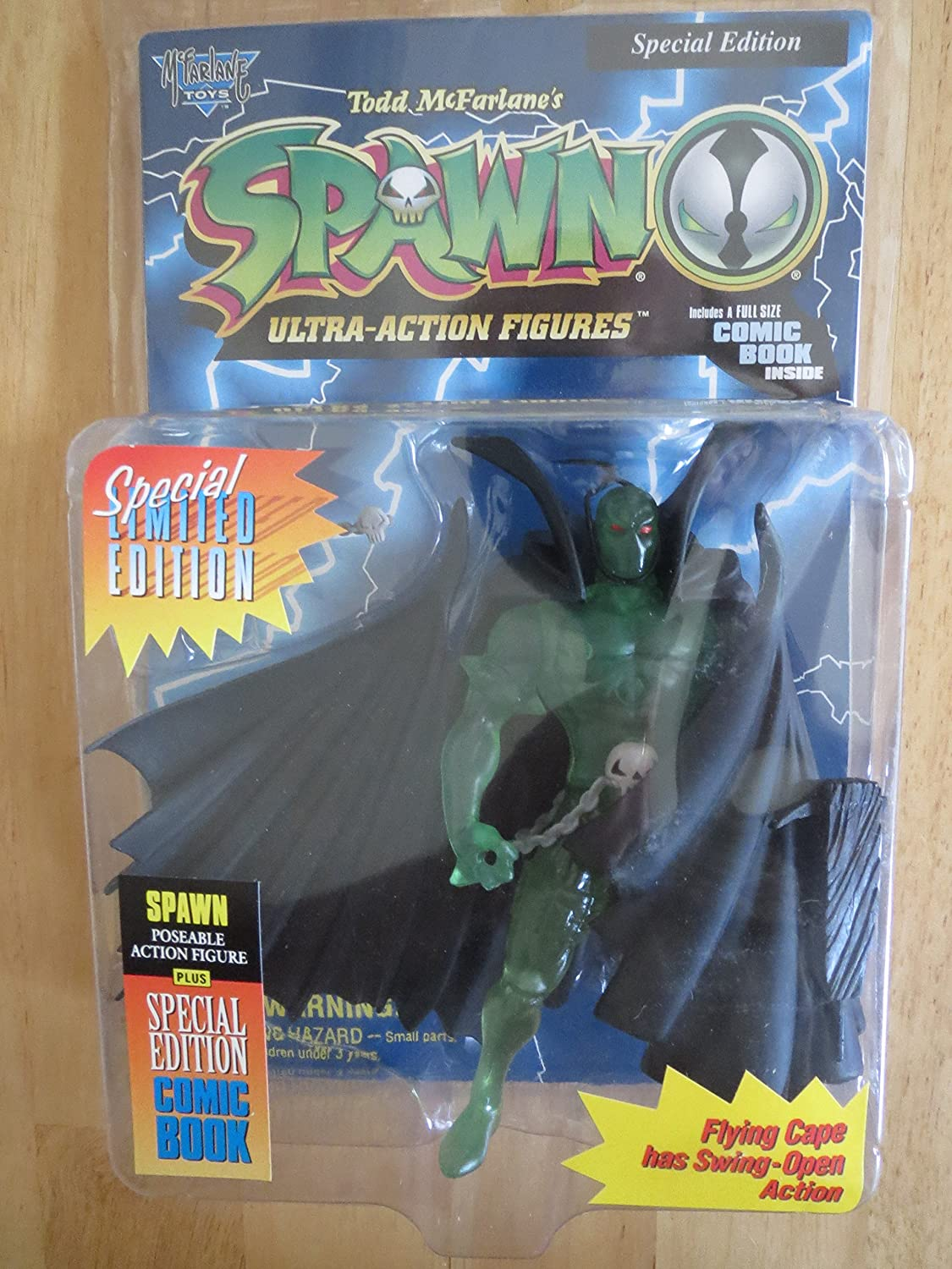 Spawn Series 1 Green Jelly Spawn Limited Edition Action Figure Club Exclusive TMP