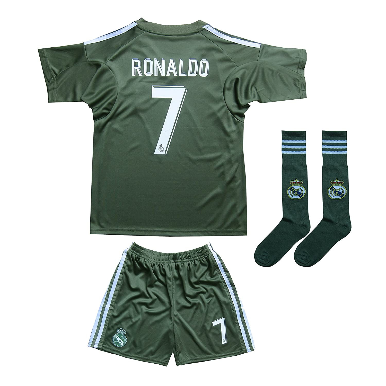 c33e42bb5 FCM 2018 2019 CR7 New  7 Cristiano Ronaldo Kids Soccer Jersey   Shorts Youth  Sizes