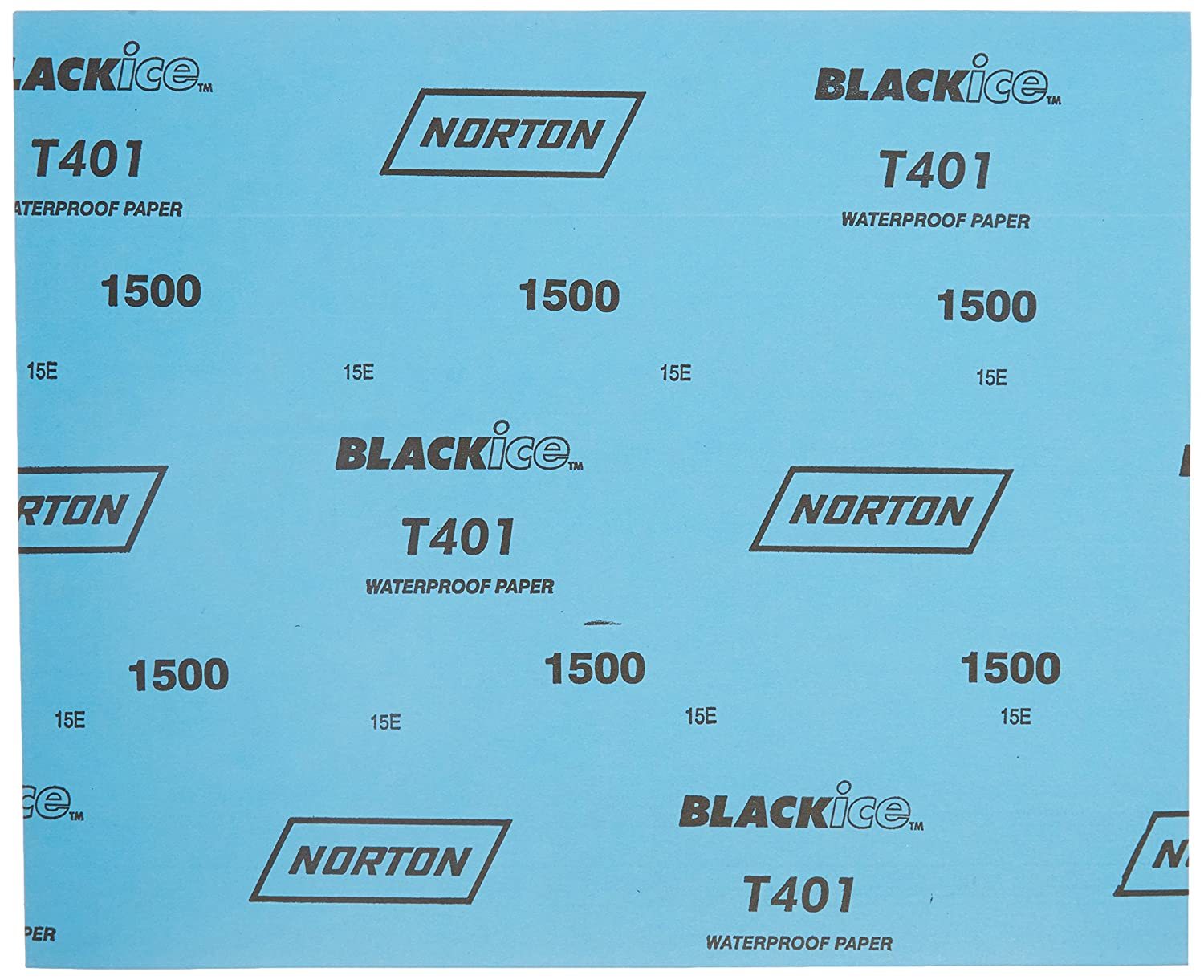 Norton 66261139379 9x11 in 50 pack Black Ice Coated Paper Sheets 1500 Grit