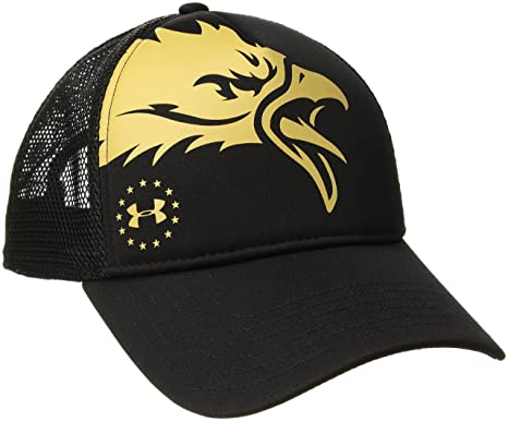best loved 65904 19db1 Under Armour Men s Freedom Eagle Cap, Black (001) Gold Rush, One