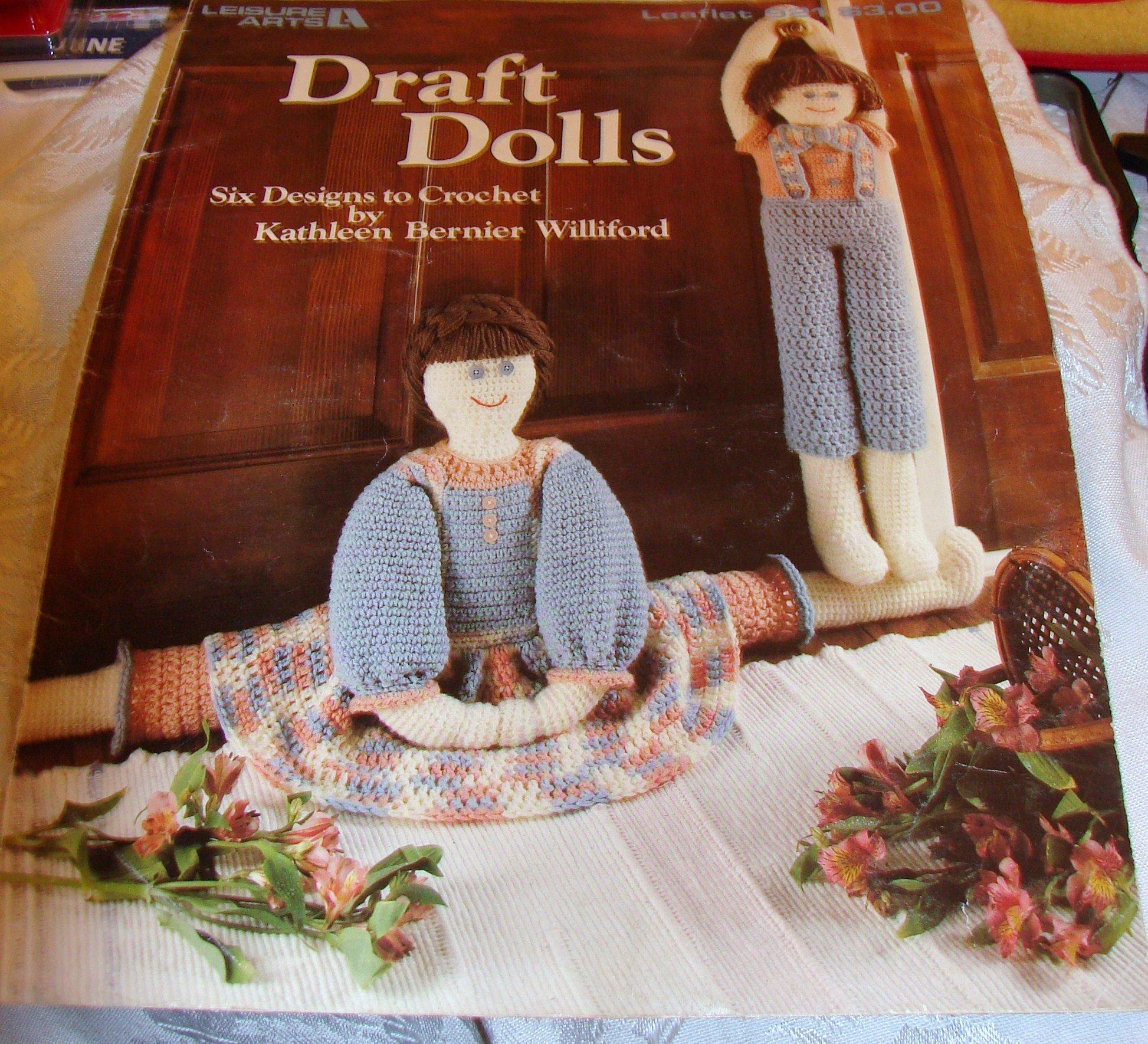 Draft Dolls - Crochet Pattern Pamphlet - #921 - Leisure Arts - 1990