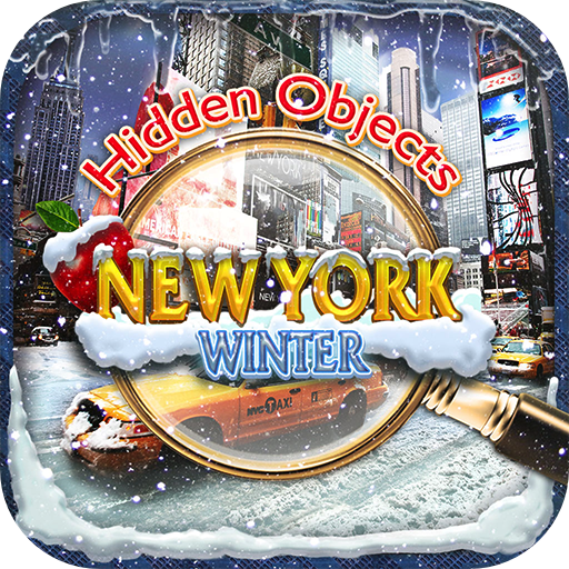 Hidden Objects New York City Winter Time - Seek & Find Object Puzzle FREE Photo Pic Snow Holiday Game & Spot the Difference Christmas]()