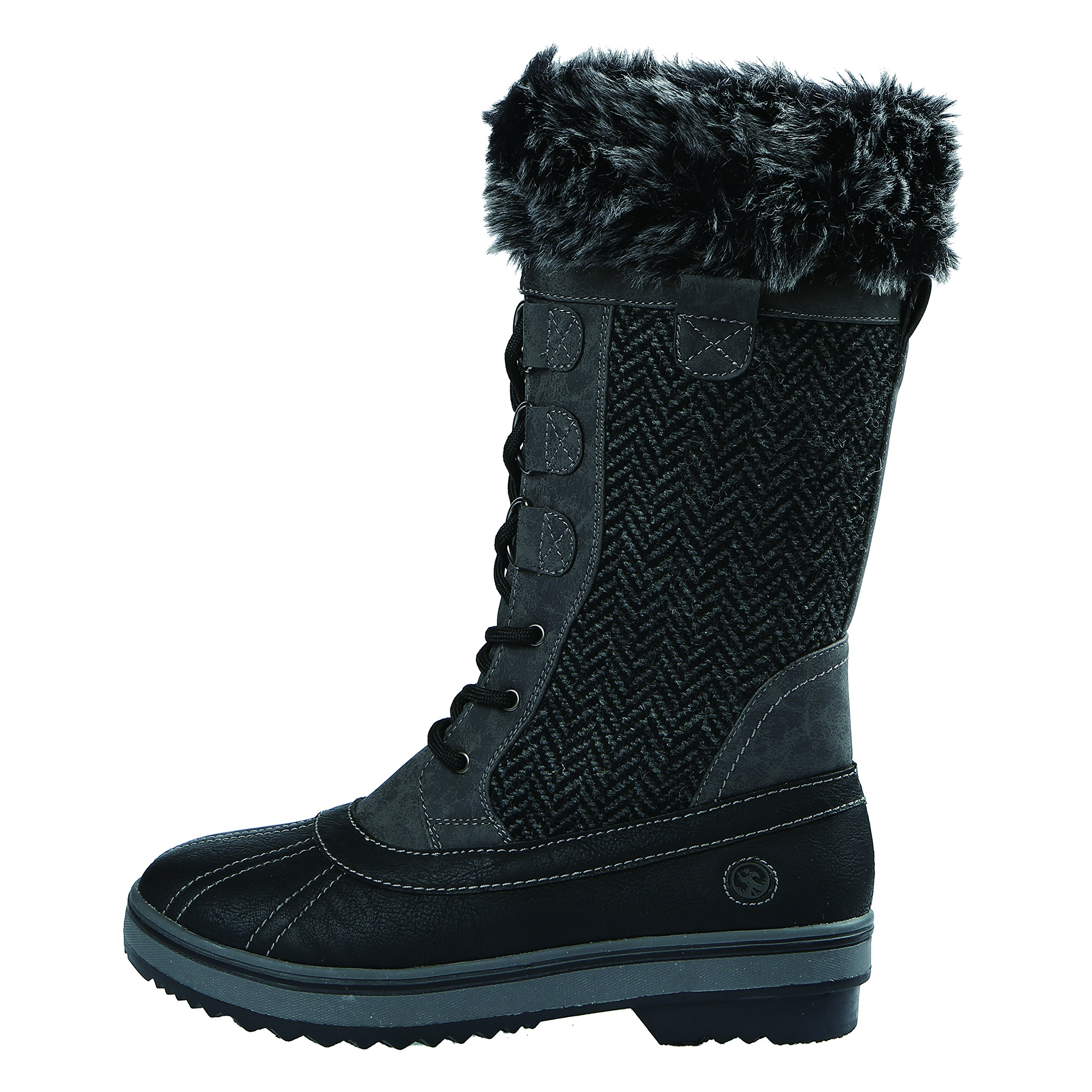 Northside Women's Bishop Snow Boot, Charcoal, 10 M US by Northside (Image #2)