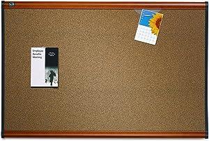 Quartet Prestige Colored Cork Bulletin Boards, 4 x 3 Feet, Light Cherry Finish Frame (B244LC)