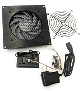 Coolerguys Single Thermal Control 120mm AV Cabinet Cooler with Gentle Typhoon Fan