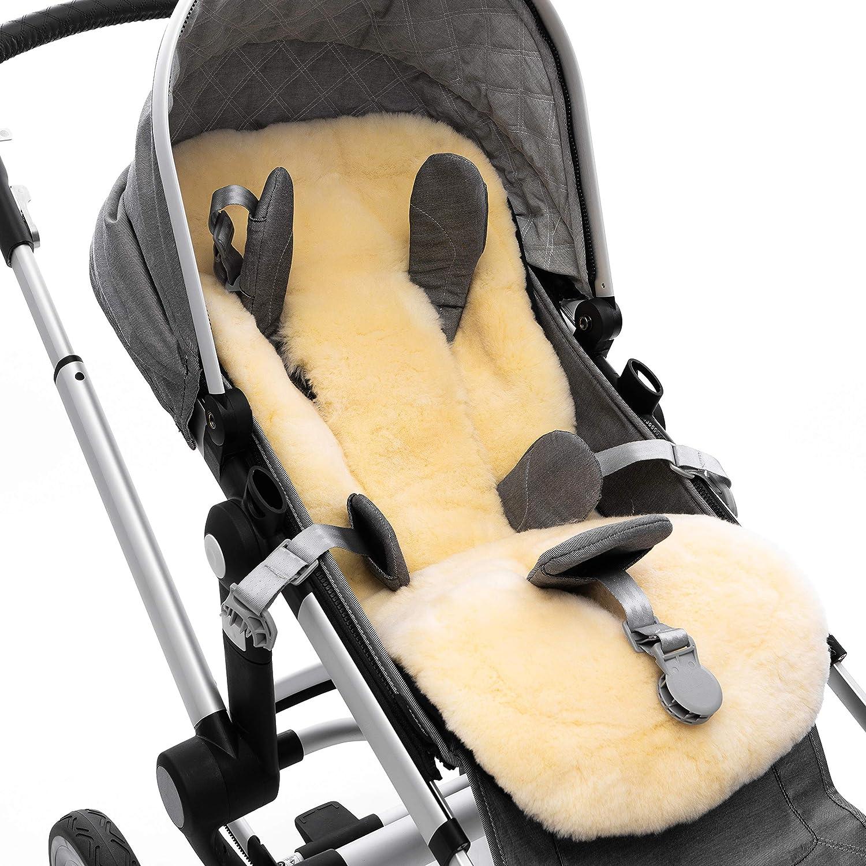 Universelle Baby Sitzauflage f/ür Kinderwagen und Buggy wie Bugaboo Lammfell-Einlage STAR von WERNER CHRIST BABY deutsche Qualit/ät aus medizinischem Fell Cybex u.a Joolz