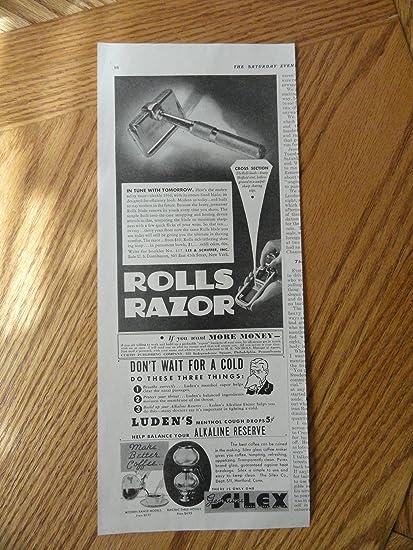 Rolls Razor Ludens Cough Drops Silex Coffee Maker Print Ad 5 1