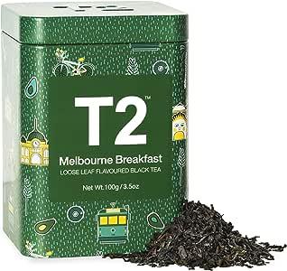 T2 Tea Melbourne Breakfast Black Tea, Loose Leaf Tea in Limited Edition Tin, 100g, 100 g