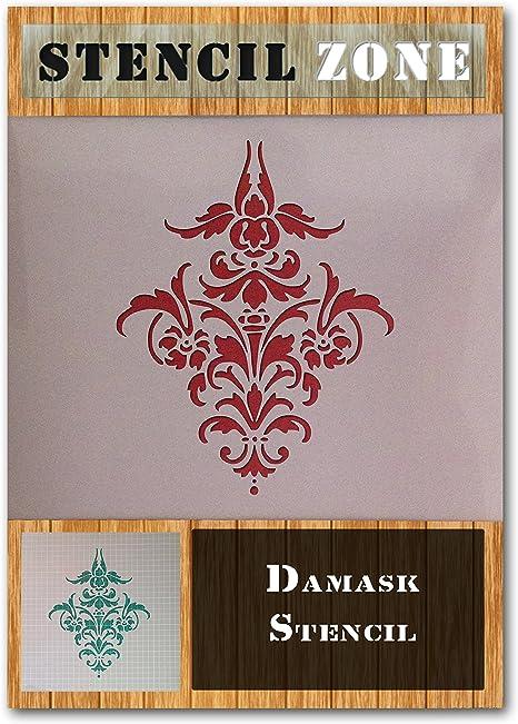 Damask Motif Vintage Shabby Chic Mylar Painting Wall Art Stencil treize