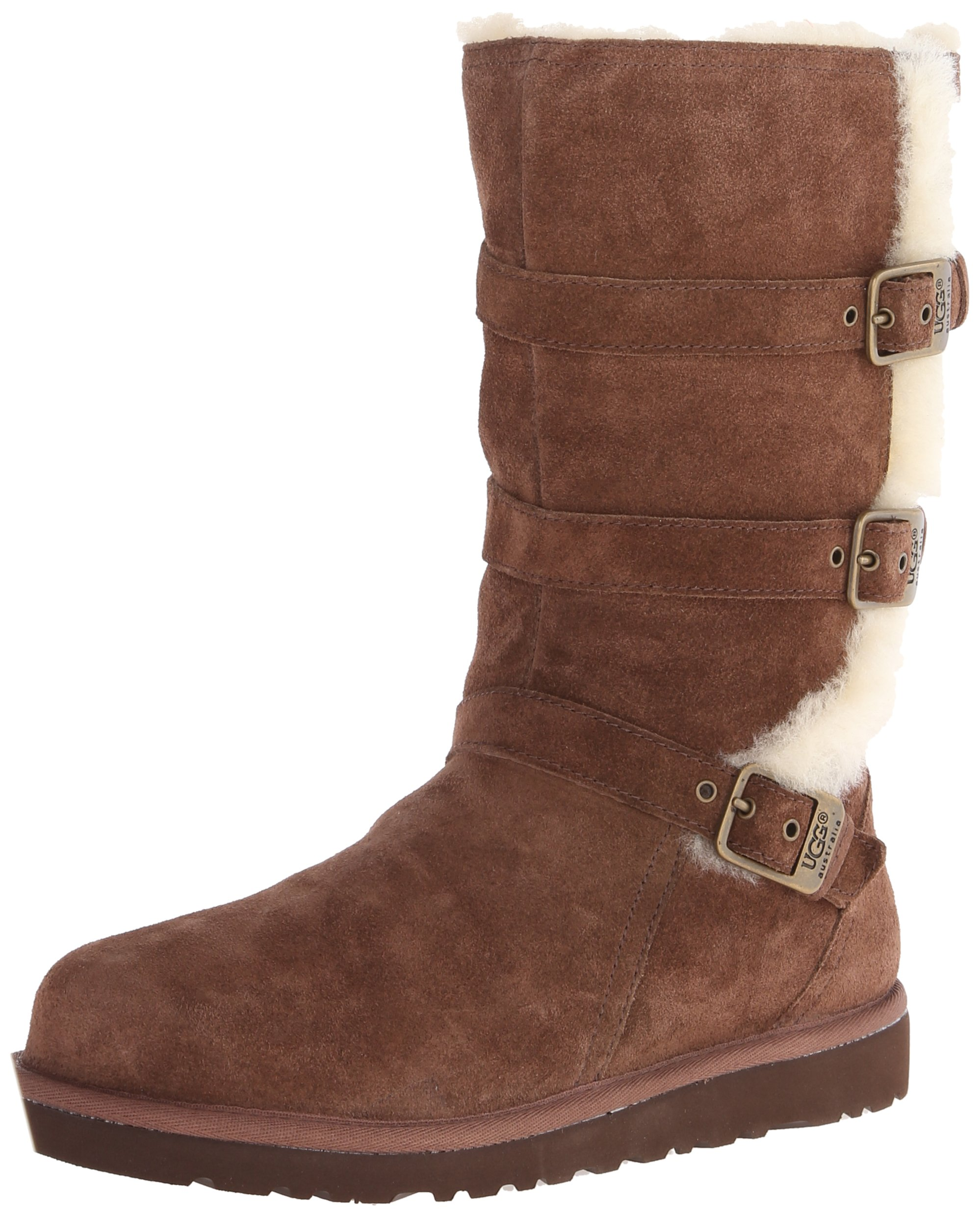 UGG Australia Girls Maddi Chocolate Western Boot - 5 by UGG