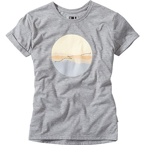 Madison Tech Tee Women's Sunrise Size 8 Grey