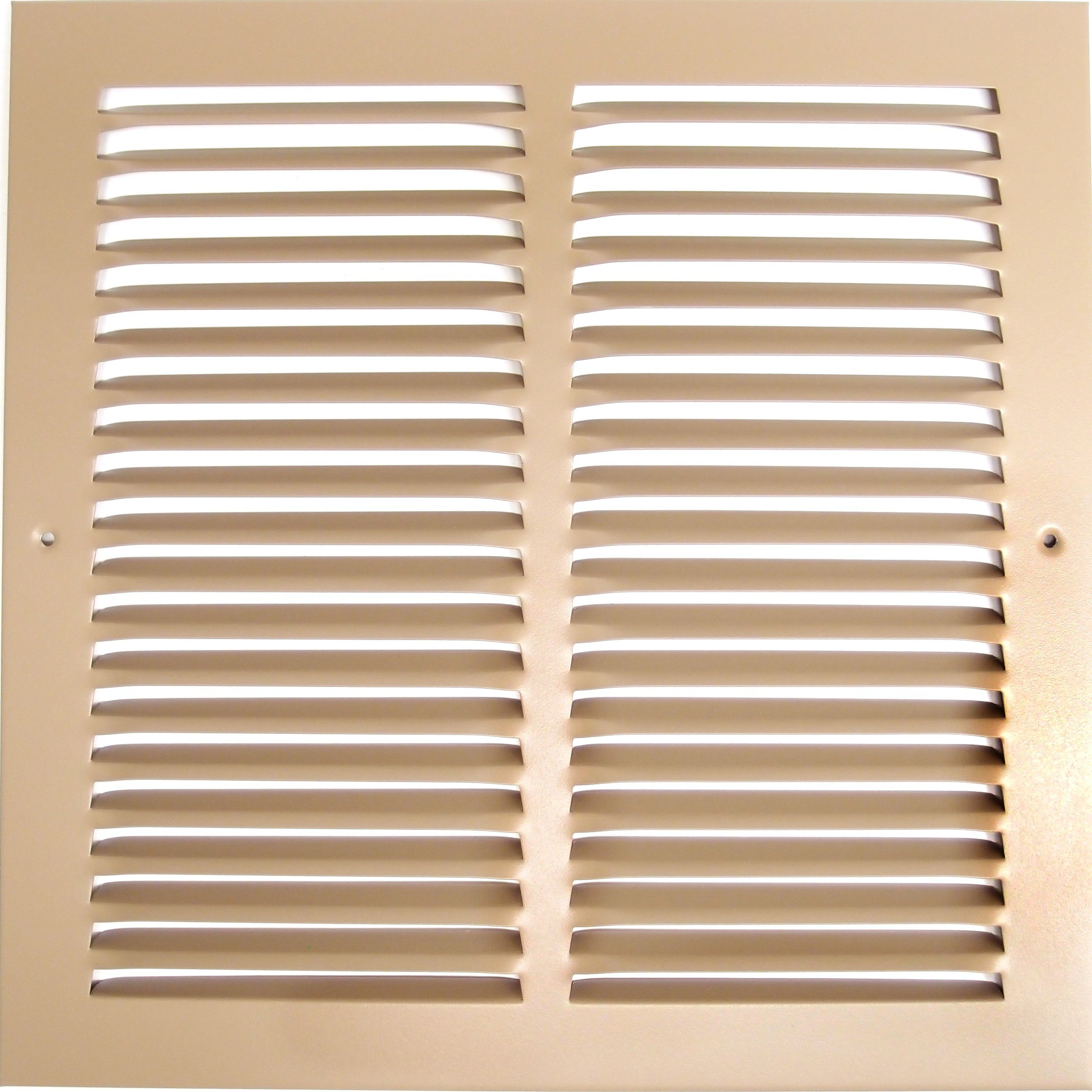 12''w X 12''h Steel Return Air Grilles - Sidewall and Cieling - HVAC DUCT COVER - Brown [Outer Dimensions: 13.75''w X 13.75''h]