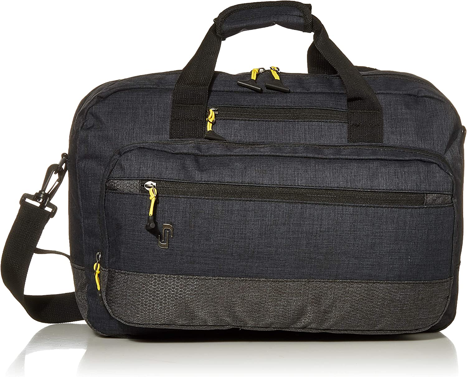 Solo Velocity 15.6 Inch Laptop Hybrid Backpack Briefcase, Navy/Grey