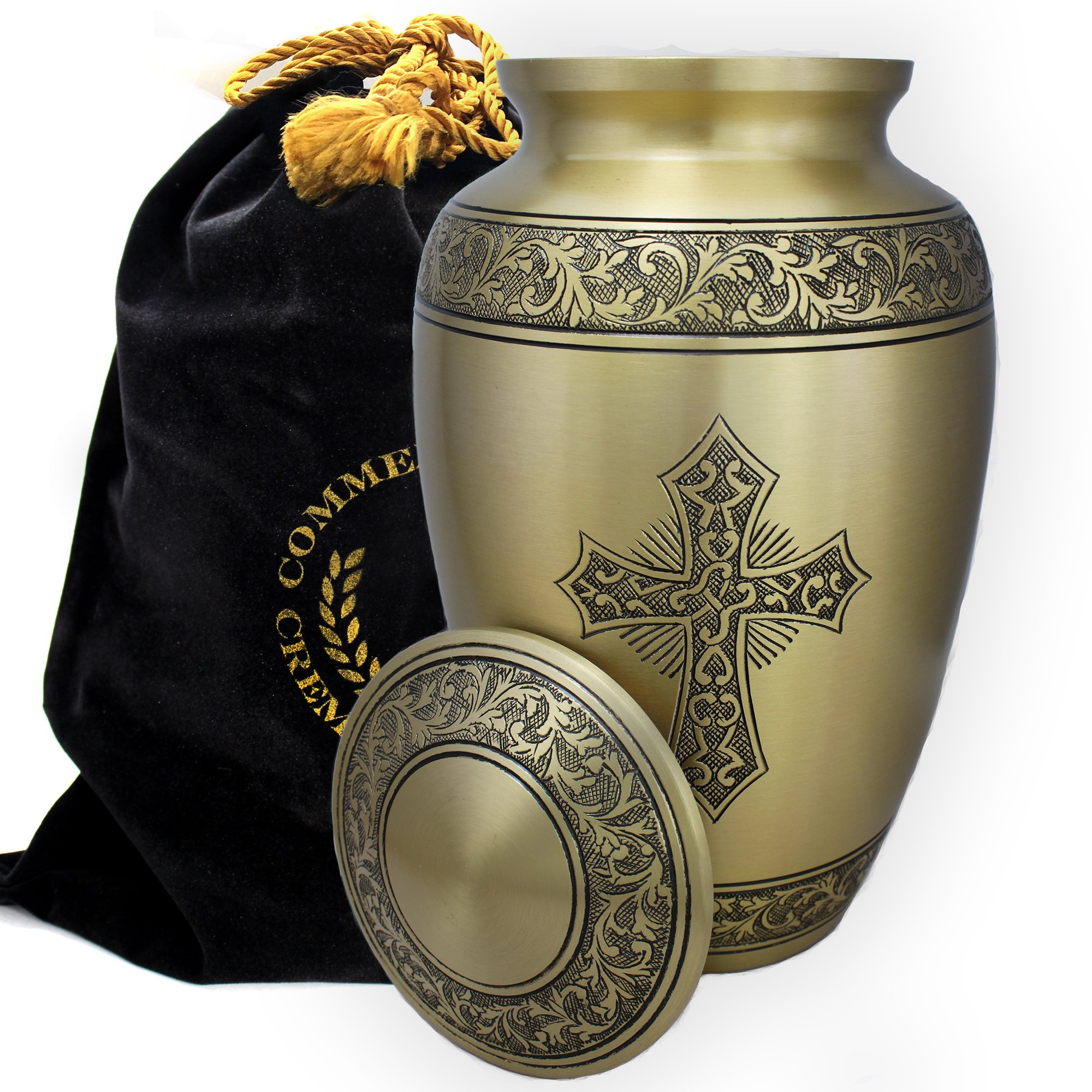 Love of Christ Gold Burial or Funeral Adult Cremation Urn for Human Ashes - Large, Adult by Commemorative Cremation Urns (Image #3)