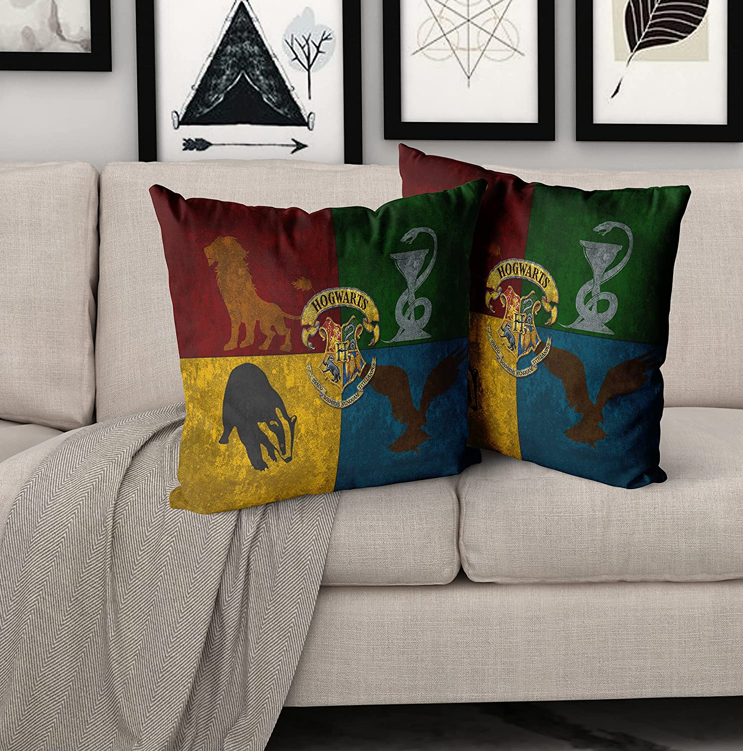 Magic School Sign Pillow Cover,Set of 2,18 x 18 Inches