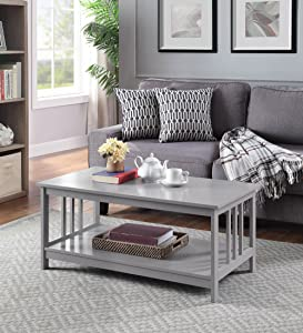 Convenience Concepts 203382GY Coffee Table, Gray