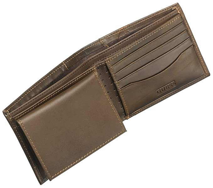 Guess Men's Passcase Billfold, Brown, One Size at Amazon Men's Clothing  store: Wallets
