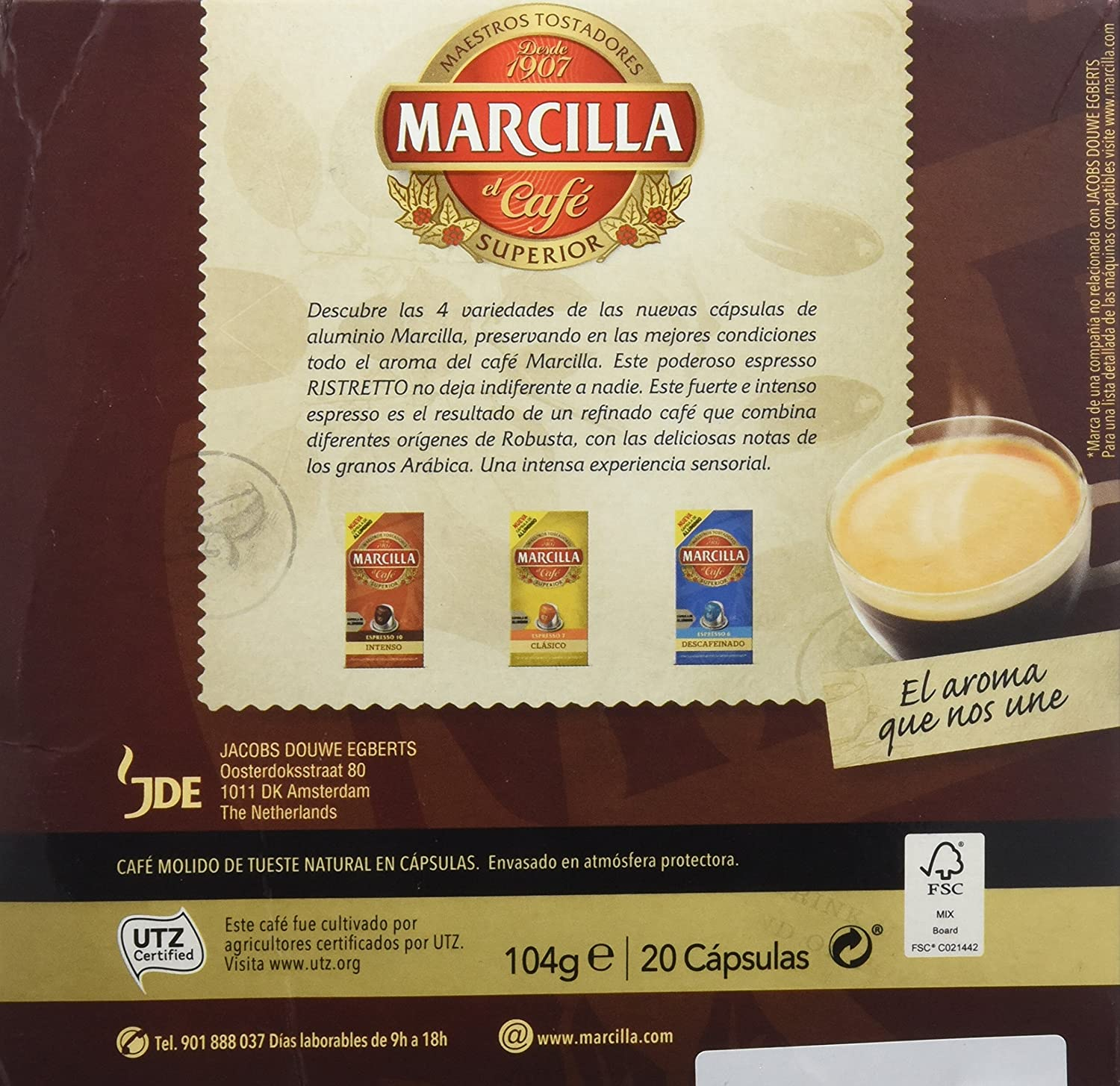 Marcilla Cápsulas Ristretto 20 caps - [Pack de 10]: Amazon.es: Amazon Pantry