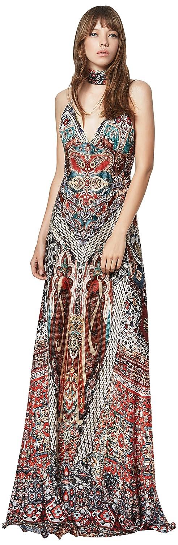 Etxart & Panno Bardan, Vestido de Fiesta para Mujer, Multicolor (Teja), X-Large (Tamaño del Fabricante:44): Amazon.es: Ropa y accesorios