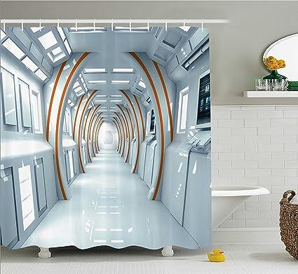 Amazon Ambesonne Fantasy Shower Curtain Futuristic Hallway Of