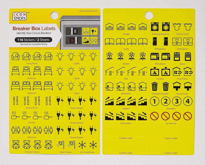 Wrg 9914 Fuse Box Labels Kit 1996 Saturn Sl Panel Diagram Circuit Breaker Organiser 2 Sheets Amazoncouk