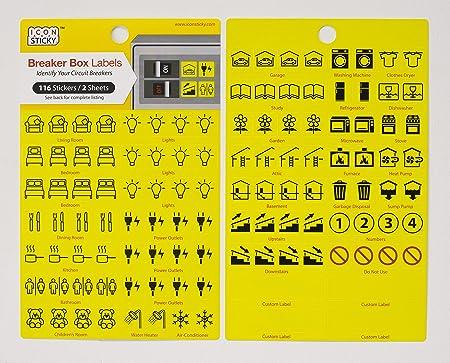 fuse box circuit breaker organiser labels 2 sheets amazon co uk rh amazon co uk Fuses and Circuit Breakers Fuses vs Circuit Breakers