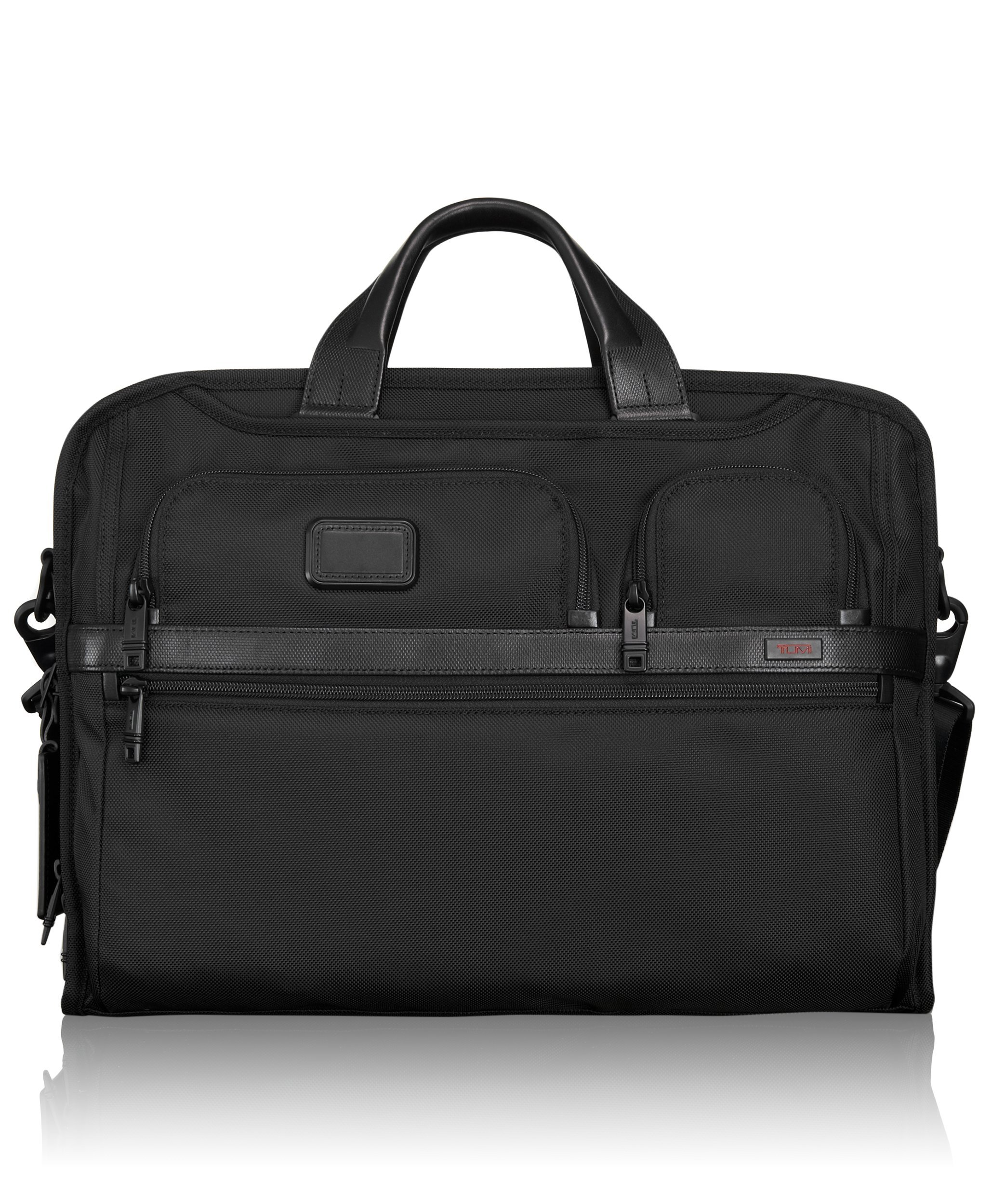 Tumi Alpha 2 Compact Large Screen Laptop Brief, Black, One Size
