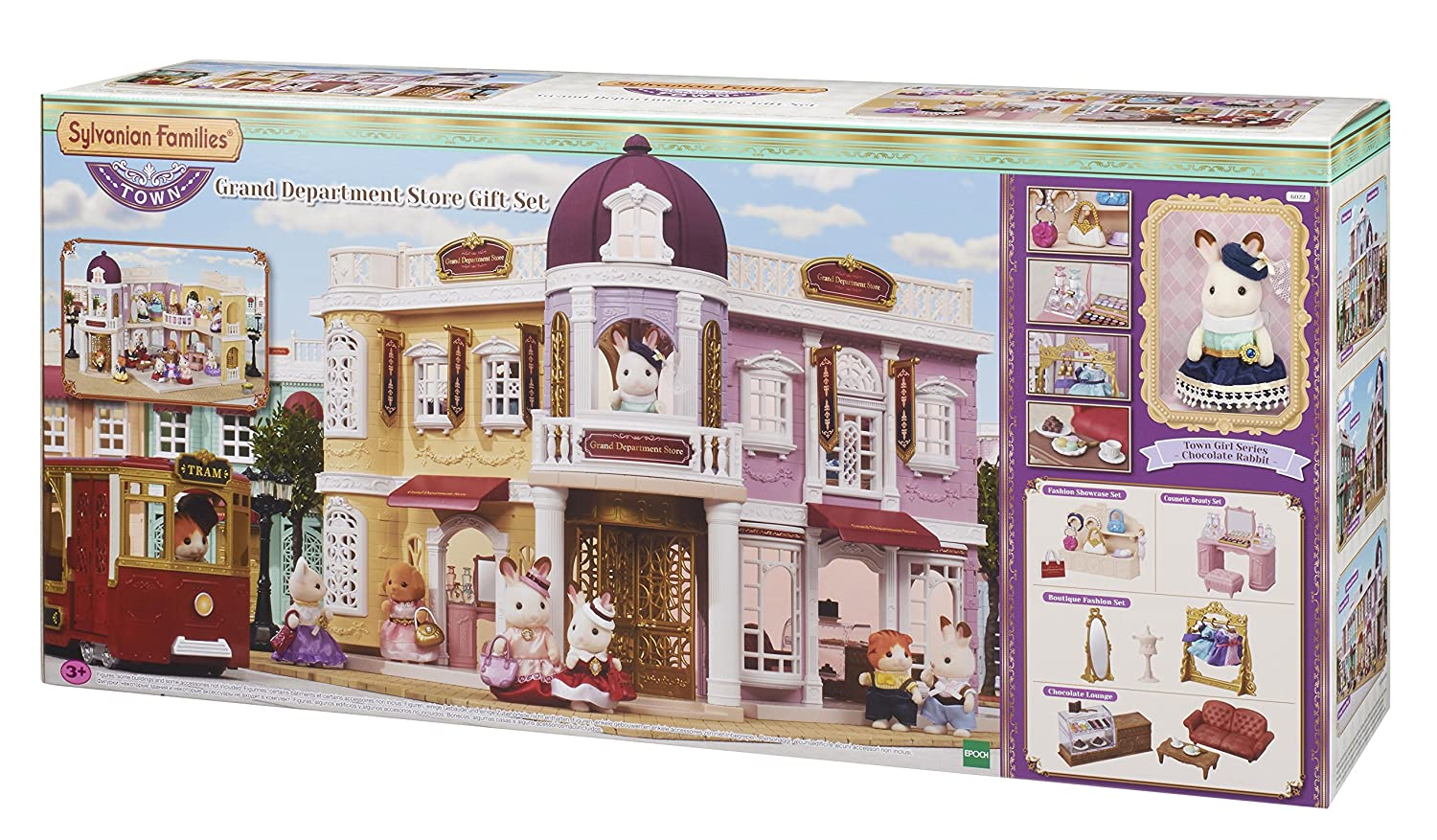 Sylvanian families 6022 grand department store gift playset new town series one size sylvanian families amazon co uk toys games