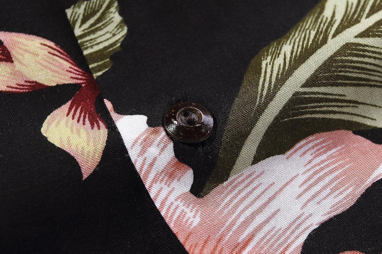 Boy Hawaiian Shirt or Cabana Set in Black Rafelsia