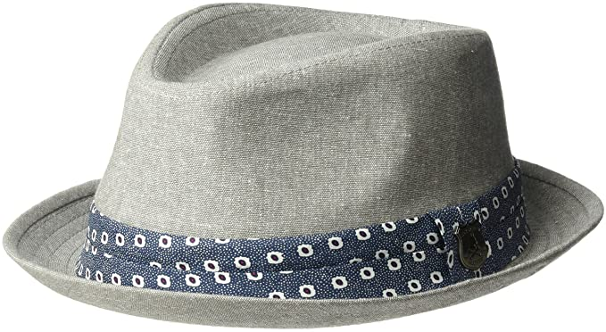 d10d836b41b80 Nick Graham Men s Luis Solid Fedora with Floral Ribbon