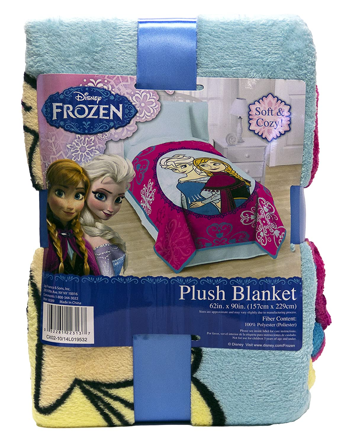 Disney Frozen Anna y Elsa copo de nieve manta de forro polar, Anna and Elsa, Twin Blanket: Amazon.es: Hogar