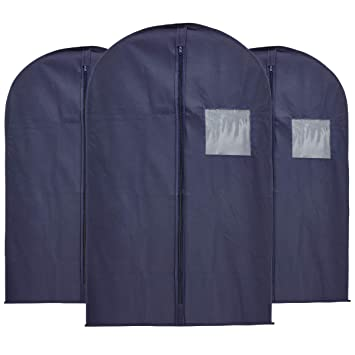 Amazon.com: Value Pack 3 azul marino traje de bolsas – borde ...