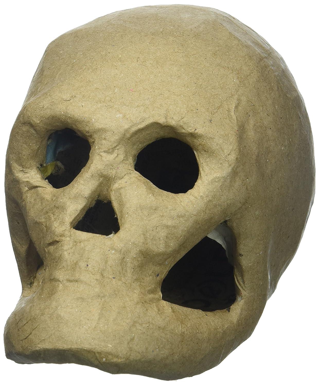 Amazon.com: Darice 2876-35 3-D Paper Mache Skull-5.5 inch: Home ...