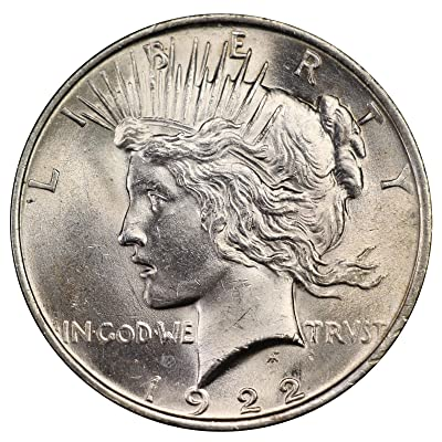 1922-1925 U.S. Peace Silver Dollar Coin, Mint State Condition at 's Collectible Coins Store