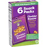 Annie's Cheddar Bunnies, Baked Snack Crackers, 6 Snack Packs, 6 oz Box