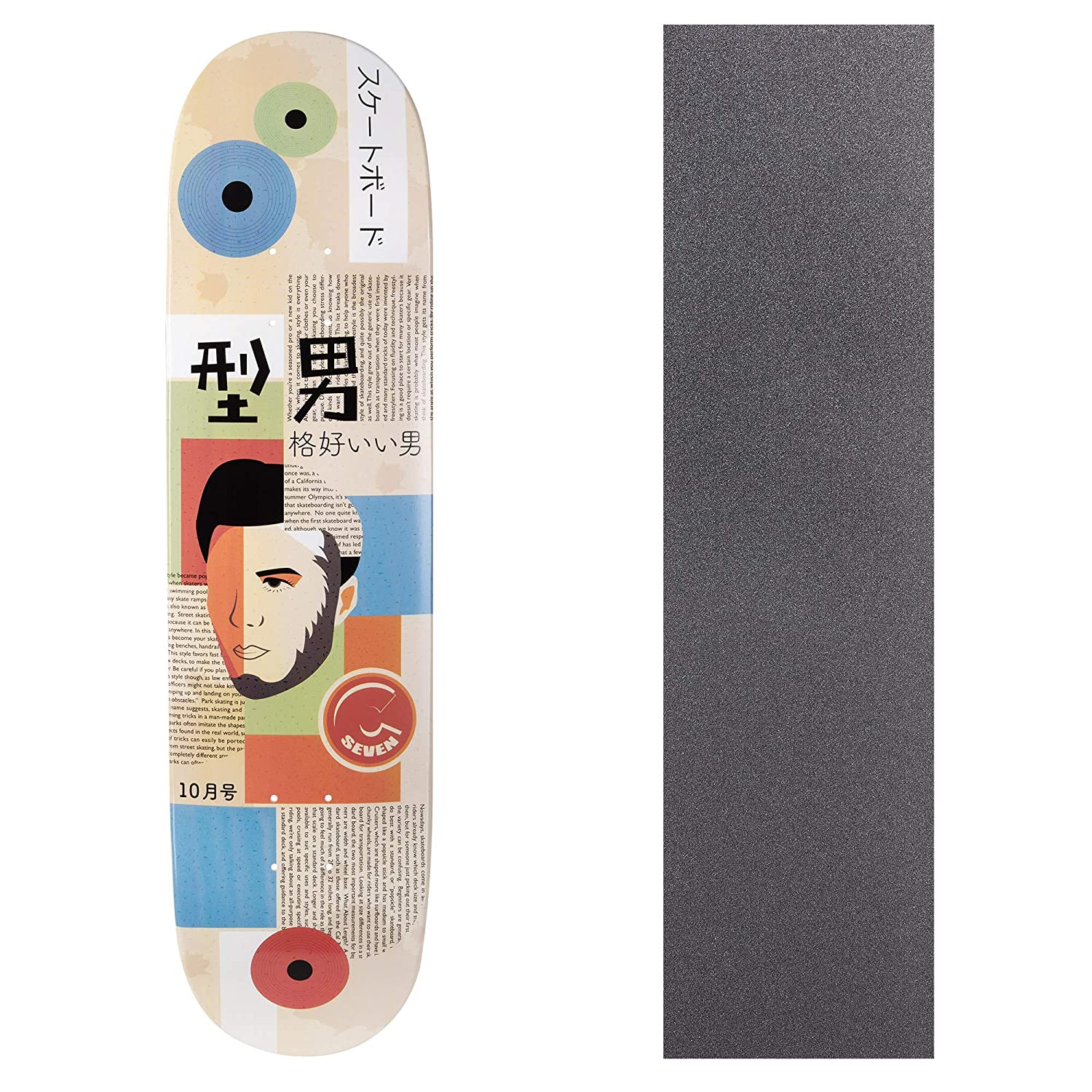 Cal 7 Graphic Skateboard Deck with Grip Tape | Canadian Maple | 8.0 and 8.25 Inch