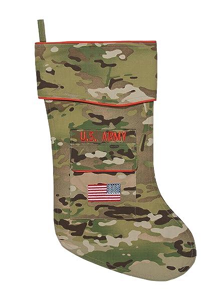 army christmas stocking camouflage fabric - Camo Christmas Stocking