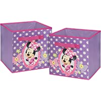 Disney 2-Set of 10' Minnie Mouse Storage Cubes