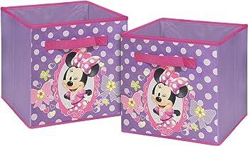 Disney 2-Set of 10' Minnie Mouse Storage Cubes