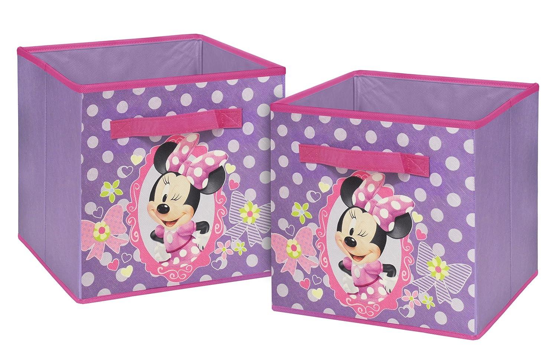 Amazon.com: Disney Minnie Mouse Storage Cubes, Set Of 2, 10 Inch: Toys U0026  Games