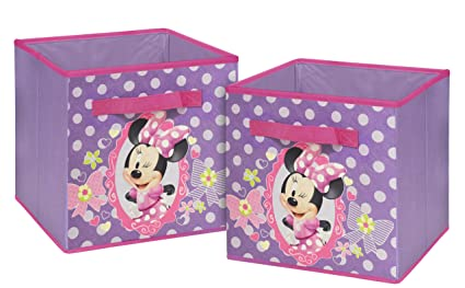 Superior Disney Minnie Mouse Storage Cubes, Set Of 2, 10 Inch