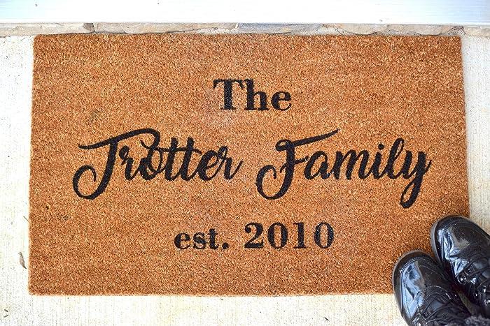 Amazon Com Personalized Doormat Personalized Gift Personalized Door